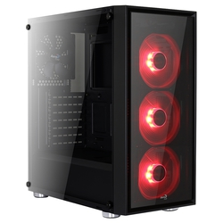 AeroCool Quartz Black/red