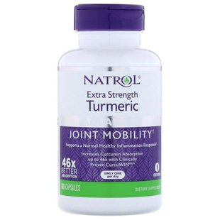 Антиоксидант Natrol Turmeric Extra Strenght (60 капсул)