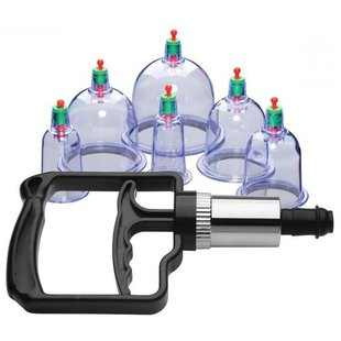 XR Brands Набор помп Sukshen 6 Piece Cupping Set with Acu-Points